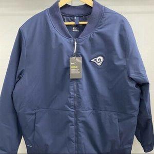 Nike XXL Shield NFL Rams Onfield Bomber Jacket LA